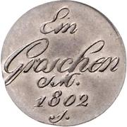 1 Groschen - Friedrich Carl Josef – revers
