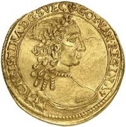 1 ducat Christina – avers