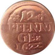 12 pfennige – revers