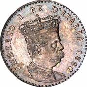 50 centesimi Humbert Ier – avers