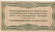 50 Heller (Erlauf im Nibelungengau) -  revers