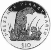 10 dollars (Guépards) – revers