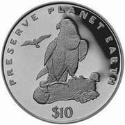 10 dollars (Faucons) – revers