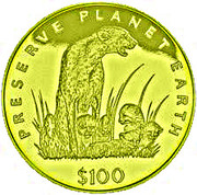 100 Dollars (Guépard) – revers