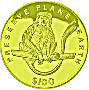 100 Dollars (Colobe guéréza) – revers