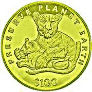 100 Dollars (Lion) – revers