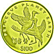 100 Dollars (Grues) – revers
