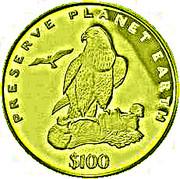 100 Dollars (Épervier) – revers