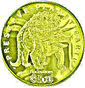 100 dollars (Tricératops) – revers