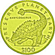 100 Dollars (Ankylosaure) – revers