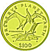 100 Dollars (Pteranodon) – revers