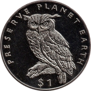 1 dollar (Grand-duc du Cap) – revers