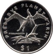 1 dollar (Pteranodon) -  revers