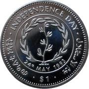 1 Dollar (Jour de l'Indépendance) – revers