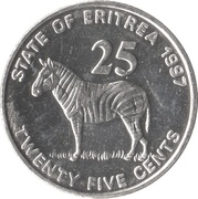 25 cents -  revers