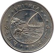 1 dollar (Rhinocéros noir) – avers