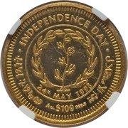 100 Dollars (Jour de l'Indépendance) – revers