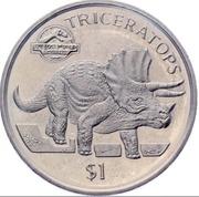 1 dollar (Tricératops) – revers
