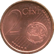 2 cents d'euro (1er type) -  revers