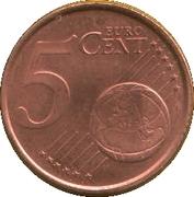 5 cents d'euro (1er type) -  revers