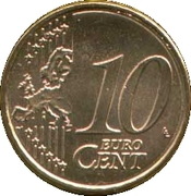 10 cents d'euro (2e carte, 1er type) -  revers