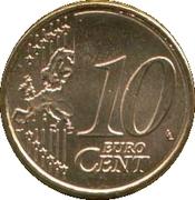 10 cents d'euro (2e carte, 2e type) -  revers