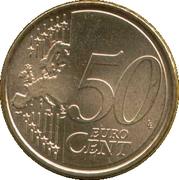 50 cents d'euro (2e carte, 2e type) -  revers
