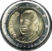 2 euros Juan Carlos I (2e carte, 1er type) -  avers