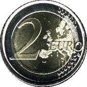 2 euros Juan Carlos I (2e carte, 1er type) -  revers