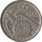 50 pesetas Franco -  revers