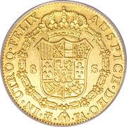 8 escudos Charles IV -  avers