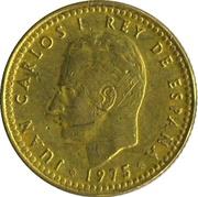 1 peseta Juan Carlos I -  avers
