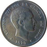 10 centimos Alphonse XII -  avers