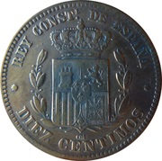 10 centimos Alphonse XII -  revers