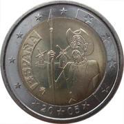2 euros Don Quichotte -  avers