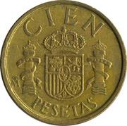 100 pesetas modéle CIEN -  revers