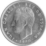 5 pesetas Juan Carlos I Coupe du monde de football 1982 -  avers