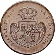 ½ real Isabelle II -  avers