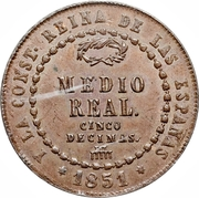 ½ real Isabelle II -  revers