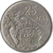 25 pesetas Franco -  revers