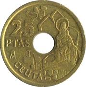 25 pesetas Ceuta -  revers