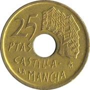25 pesetas Castille-La Manche -  revers