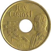 25 pesetas Saut en hauteur -  avers
