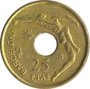 25 pesetas Saut en hauteur -  revers