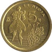 5 pesetas La Rioja -  revers