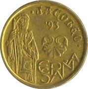 5 pesetas Jacobeo -  avers