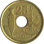 25 pesetas Melilla -  revers