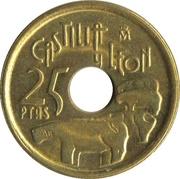 25 pesetas Castilla et León -  revers