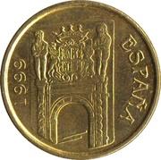 5 pesetas Murcie -  avers