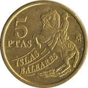 5 pesetas Îles Baléares -  revers